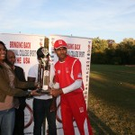 NCSU Captain Hardik Parekh receiving the Trophy from Shanae Strachan