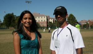 KD of Gators Cricket with American College Cricket TV's Puja
