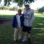 Nino with UC Davis Tight End & fomer cricket player Cameron Sentence