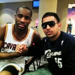 Jay Gee chilling in the Cleveland Cavaliers Locker with Christen Eyenga.