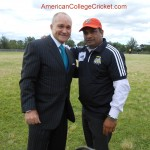 Commissioner Kelly with Coach Ijaz Asgarally