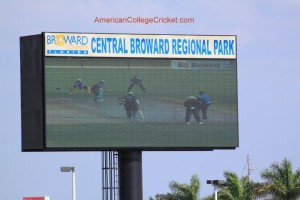Jumbotron at CBRP Stadium,2010 American College Cricket National Championship