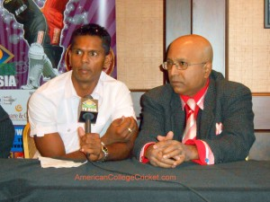 Shiv Chanderpaul at a Press Conference, with Lloyd