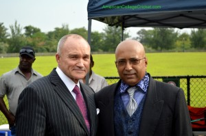 NYPD Commissioner Ray Kelly & Lloyd Jodah, American College Cricket President