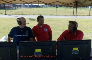 TV Asia commentary team at 2012 SE Championship; David Sentance,Amir Saddiqqui & Lloyd Jodah