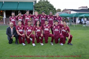 Harvard CC with Lloyd Jodah at the Philadelphia Cricket Club