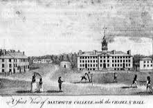 Cricket on the Dartmouth College campus in 1793