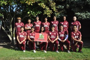 Harvard Cricket Club, with the banner of  Hit Wicket Bar & Restaurant, a key supporter