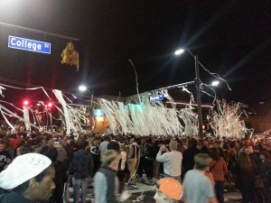 Toomers Corner - celebrating Auburn's SEC Championship win - in football !
