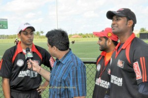 Divya Patel (ASU Red Wolves) being interviewed by TV Asia