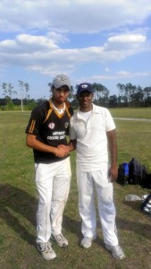 with the legendary Shiv Chanderpaul