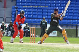Action from American College Cricket