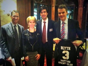 US Olympic Ice Hockey player Lane MacDonald, British Consul Ms Susie Kitchens, Ibrahim Khan, Professor Blyth
