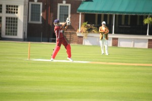 Manik Kuchroo (Harvard) 134*, pic from the American College Cricket Ivy League Championship)