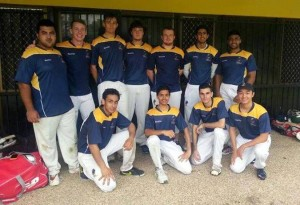 Bond University Cricket 2014, Jaiveer Chauhan front left.