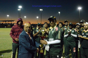 University of South Florida (USF Bulls) , new SE Champion,with Lloyd Jodah, American College Cricket founder & President.