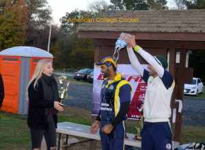 Mid Atlantic MVP Ravi Singh,about to get the Aard from Anja, gets a Champagne (water) bath from Hayat