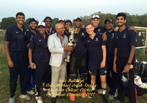 2017 Ivy League Champion Yale with American College Cricket Founder & President Lloyd Jodah