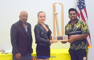 2016 Nationals Trophy Presentation to USF Captain Sai Ramesh, by Anja